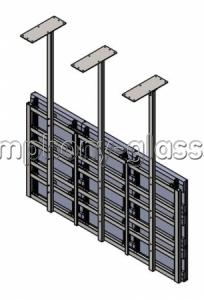 Потолочный подвес для видеостены 3х3