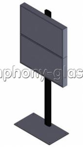 Напольная подставка для видеостены 1х2 Вариант 2