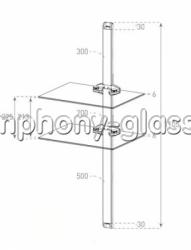 Настенное крепление для аппаратуры Sonorous PL 2620 B