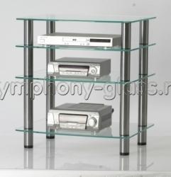 Подставка для аппаратуры Стекло Металл ТВС 65x45.4|4