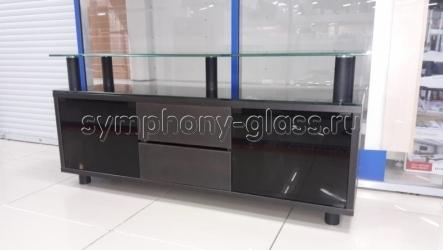 Тумба с ящиками для тв Элегиус со стекло-дверками-2 (ВИТРИННЫЙ ОБРАЗЕЦ!!!!)