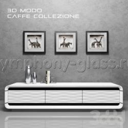 Тумбочка для телевизора Caffe Collezione 3D-Modo Bright White
