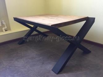 Деревянный журнальный стол в стиле лофт Loft-4