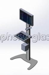 Напольная букмекерская стойка для 2-х мониторов, вариант 2