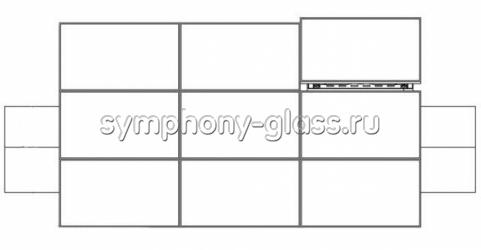 Настенная видеостена для 3х3 (кронштейн полного выдвижения)