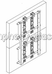 Настенный кронштейн для видеостены 1х2 монитора