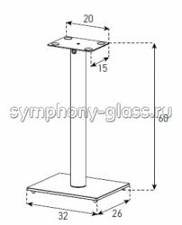 Стойки для акустики Sonorous SP 100 HBLK, SP 100 WHT