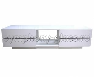 Белая тумба под телевизор 2м - Максимус 1800 NEW