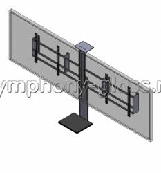 Настенный кронштейн для видеоконференцсвязи на 2 монитора
