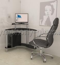 Стеклянный компьютерный стол Akma Mist-01