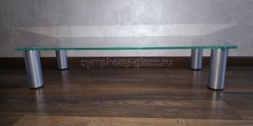 Настольная подставка для тв Стекло Металл СЛ 80-1