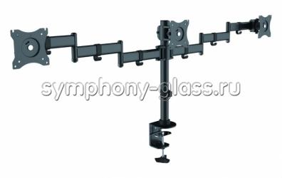 Кронштейн на струбцине для трех мониторов Itech MBS-13F