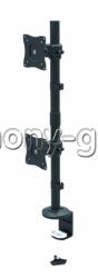 Настольный кронштейн на струбцине для двух мониторов Itech MBS-21F