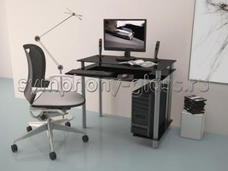Компьютерный стол из стекла Akma Noir-01