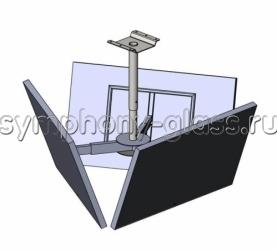 Потолочный кронштейн для 3-х панелей Allegri П-3/50