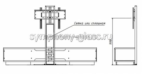 Тумба для большого тв Deccollo-2 2000 мм с креплением для тв, цвет ВЕНГЕ