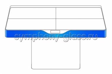 Напольная видеостена 2х2 Вариант 14 Интерактивый стол