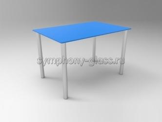 Стеклянный обеденный стол Стекло Металл Альфа