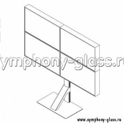 Напольная видеостена 2х2 монитора Вариант 4