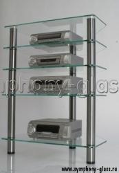 Угловая этажерка для аппаратуры 5 полок Milli А-650-5