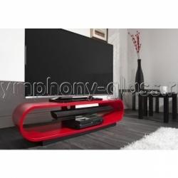 Красная овальная телевизионная тумба Techlink OVC130SR