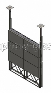 Распорная стойка 2х3 монитора кронштейн полного выдвижения