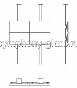 Распорная стойка для видеостены 2х2 панели