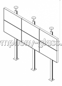 Распорная стойка для видеостены 3х2 монитора
