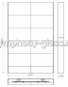 Распорная стойка для видеостены 2х5 панелей