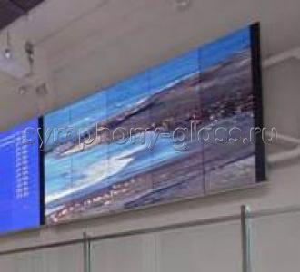 Настенный каркас для видеостены 5х5 панелей