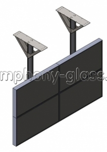 Потолочное крепление для видеостены 2х2
