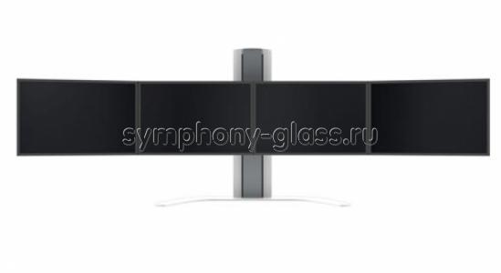 Настольный кронштейн для видеостены для 4х1 мониторов