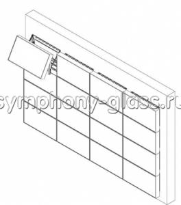 Видеостена крепление к стене 4х4 (кронштейн полного выдвижения)