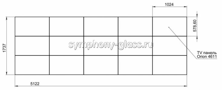 Кронштейн для видеостены для 5х3 панелей