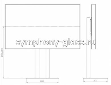 Подставка для большого тв Allegri Техно-1 70-84 дюймов (основание металл)
