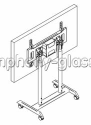 Интерактивный наклонный стол-стойка Техно