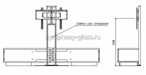 Тумба для большого тв Deccollo-2 1800/2000 мм с креплением для тв