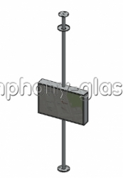 Распорный кронштейн для телевизора с закрытым корпусом