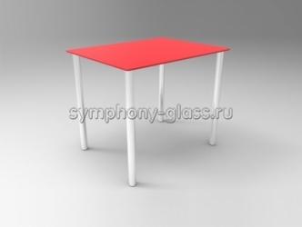 Небольшой стеклянный обеденный стол Стекло Металл Зетта