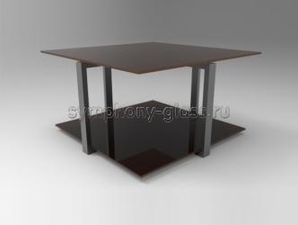 Стильный стеклянный журнальный стол Стекло Металл Вита