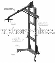 Напольная стойка для интерактивной доски с кронштейном под проектор SF-1