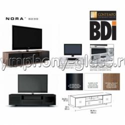 BDI Nora 8239 Gloss White, Gloss Black, Natural Walnut