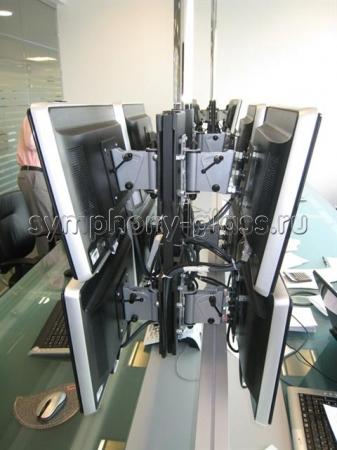 Потолочное крепление для 8 мониторов - видеостена 2х2 х2