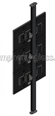 Распорная стойка для видеостены 1х3 монитора