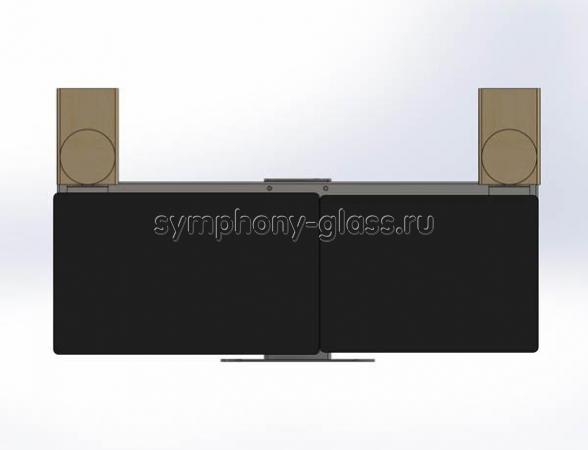 Настольная подставка для 2 мониторов и колонок