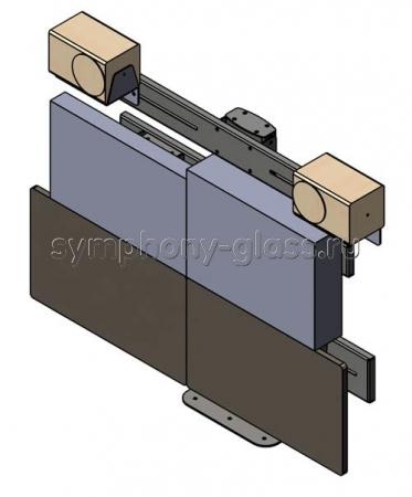 Настольный кронштейн для 4 мониторов и колонок (Вариант 2)