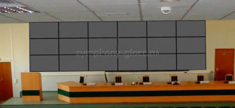 Настенный кронштейн для видеостены 6х3 панелей