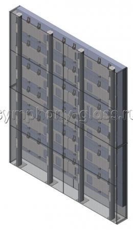 Распорная стойка для видеостены 3х6 мониторов