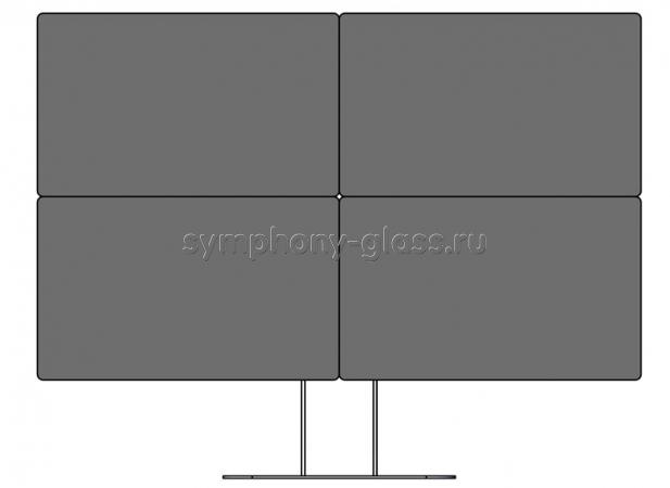 Настольная стойка для видеостены 2х2 монитора