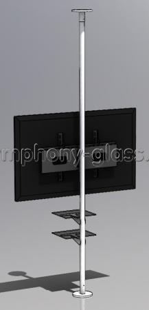 Напольно-потолочная стойка с 2-мя полками для аппаратуры
